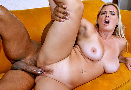 Kayla Spreads Wide For Interracial Pounding